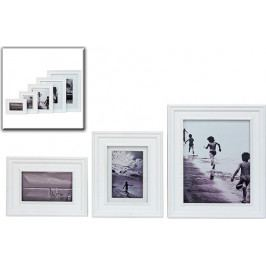 DENK GESCHENKE Fotorám | bílé dřevo Rozměry: 33x28cm