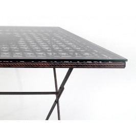 DENK GESCHENKE Sklo na stůl | 80x80x1cm DG18000