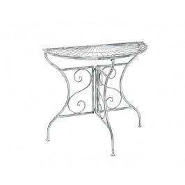 DENK GESCHENKE Stůl | šedý | kov | 75x82x41cm DG19101
