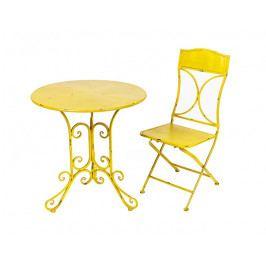 DENK GESCHENKE Židle Sun | žlutá | kov | 92x39x38cm DG14035