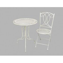 DENK GESCHENKE Židle Sylt zahradní | krémová | kov | 88x38x49cm DG14040