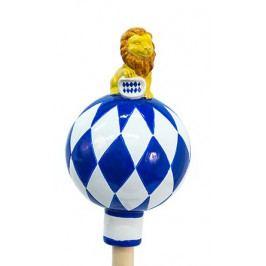 DENK GESCHENKE Zahradní dekorace | s bavorským lvem | dvě velikosti Průměr: 14cm DG38113