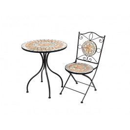 DENK GESCHENKE Stolek Stella | s mozaikou | kov | 75x60cm DG17825