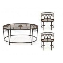DENK GESCHENKE Set Vigo zahradní | stůl | židle 2ks | kov DG89513
