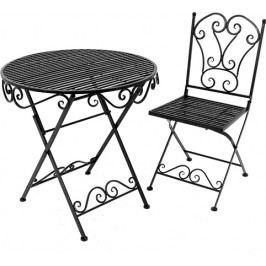 DENK GESCHENKE Židle Cadice zahradní | černá | 92x40x45cm
