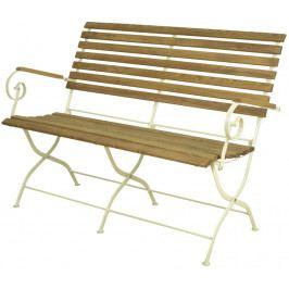ESSCHERT DESIGN Zahradní lavice | skládací | krémová EDZEE-MF002C