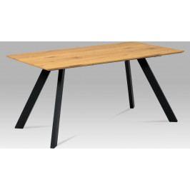 Autronic Jídelní stůl 160x90 cm, MDF dekor dub, kov černý mat AUHT-712 OAK