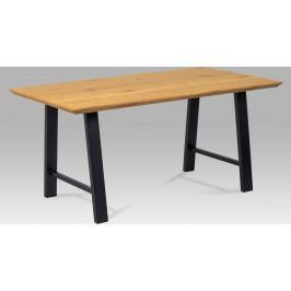 Autronic Jídelní stůl 160x90 cm, MDF dekor dub, kov černý mat AUHT-715 OAK