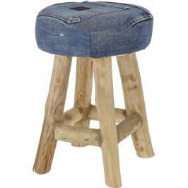 Harasim Dřevěná stolička Jeans Teak wood HR116387