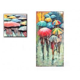 DENK GESCHENKE Nástěnný 3D obraz | deštník | kov | 120x60x6cm DG14346