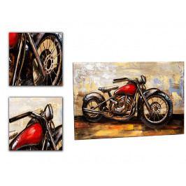 DENK GESCHENKE Nástěnný 3D obraz | motorka | kov | 80x120x6cm DG14932