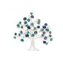 DENK GESCHENKE Nástěnná dekorace | strom | modrý | kov | 109x116x7cm DG21732
