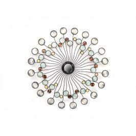 DENK GESCHENKE Nástěnná dekorace | se zrcátky | kov | modrá | šedá | 100x3cm DG21735