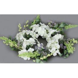 Autronic Věnec proutěný s umělými květinami, jarní dekorace, barva béžová AUPRZ857301