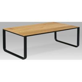 Autronic Konferenční stolek 105x55x33, MDF divoký dub, kov černý mat AUCT-1017 OAK