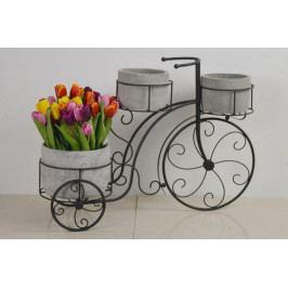 Autronic Stojan na květiny, kovový s betonovými obaly na květiny AUBU4911