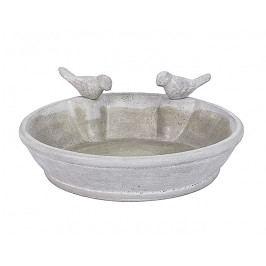 DENK GESCHENKE Pítko pro ptáčky | cement | 30x7cm