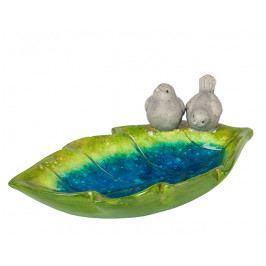 DENK GESCHENKE Pítko pro ptáčky | keramika | list | 30x10x15cm