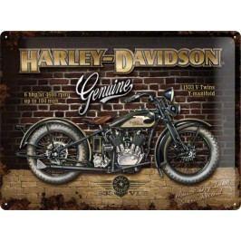 Plechová cedule Harley Davidson Genuine Moto Rozměry: 30x40cm