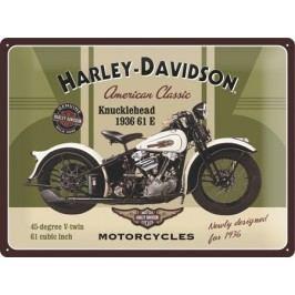 Plechová cedule Harley Davidson Knucklehead Rozměry: 30x40cm