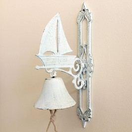 ZVON s plachetnicí 18x37cm Barva: bílá