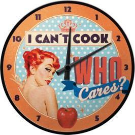 HODINY Nástěnné hodiny I Can't Cook 28 cm Průměr: 28cm