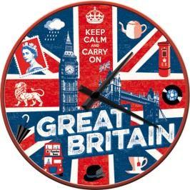 HODINY Nástěnné hodiny GREAT BRITAIN Keep Calm 28 cm Průměr: 28cm