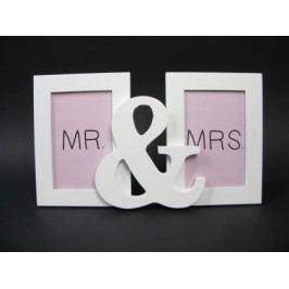 Fotorámeček bílý Mr&Mrs 2 foto 10x15cm