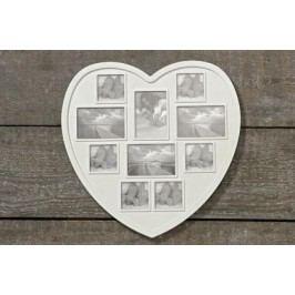 Fotorámeček plast srdce 43cm