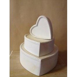 Boxy na šperky srdce 25cm
