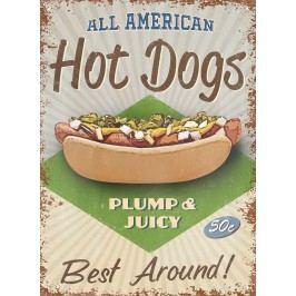 Plechová cedule All American hot dogs 30x40cm Rozměry: 30x40cm
