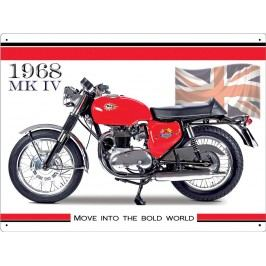 Plechová cedule Motorka 1968 MK IV 30x40cm Rozměry: 30x40cm