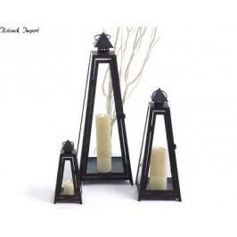 Lucerny Siena 3 ks kov. Rozměry 25x12x12/45x18x18/65x23x23cm