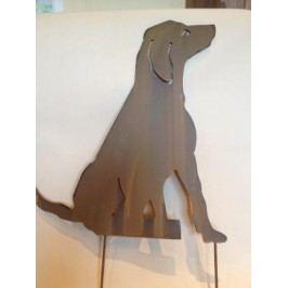 Zápich pes kov 48x44cm