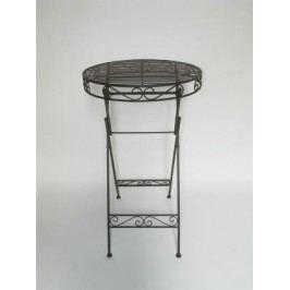 Stůl kov tmavě hnědý 65x106cm