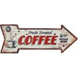 Plechová cedule Beer Coffee Provedení: A