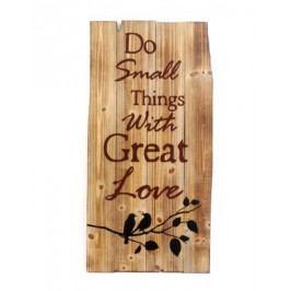 Dřevěná cedule Small Things 81x40,5cm