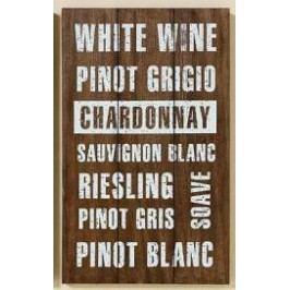 Dřevěná cedule White wine