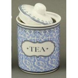 Keramická dóza Tea modrobílá 11cm