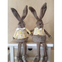 Plyšový králík sedící 50cm Provedení: Holka