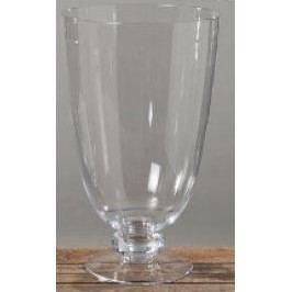 Svícen váza sklo čiré 50x30cm