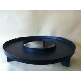 Talíř Ring kov černý 40x11cm