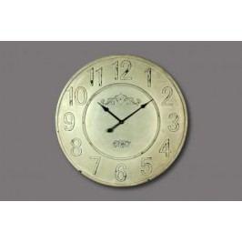 HODINY Nástěnné hodiny krémové 80cm