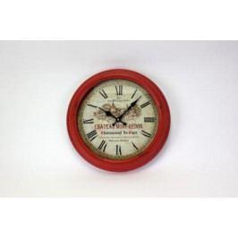 HODINY Nástěnné hodiny Chateau Mont Redon červené 36,5cm