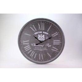 HODINY Nástěnné hodiny Chateau Benier šedé 80cm