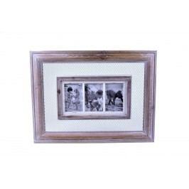 Fotorámeček na 3 fotografie s mřížkou 61x3x46cm