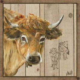 Obraz světlý býček 50X50cm