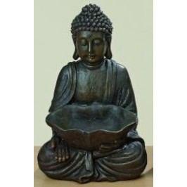 Buddha 30cm polyresin hnědý I