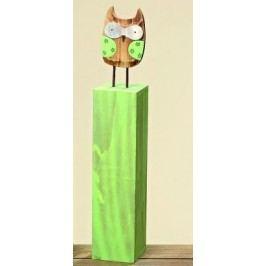 Dřevěná sova na stojanu Alba 52cm
