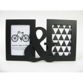 Fotorámeček černý Mr&Mrs 2 foto 10x15cm